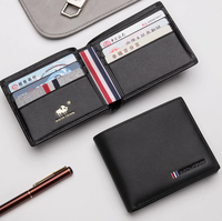 Men 'S leather wallet with card holder Bison Denim N4475