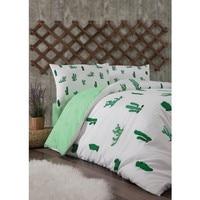 Tutti A Casa da Zorluteks Doppia Personalità Duvet cover set-Cactus modello Bianco verde colori di qualità biancheria da letto di lenzuola piumone copertura