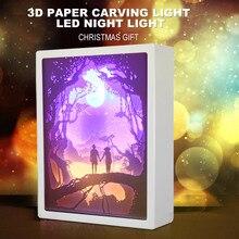 3D Paper Carving Lights…