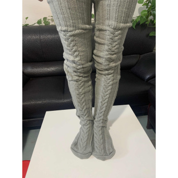 Knitted Pattern Thigh Highs