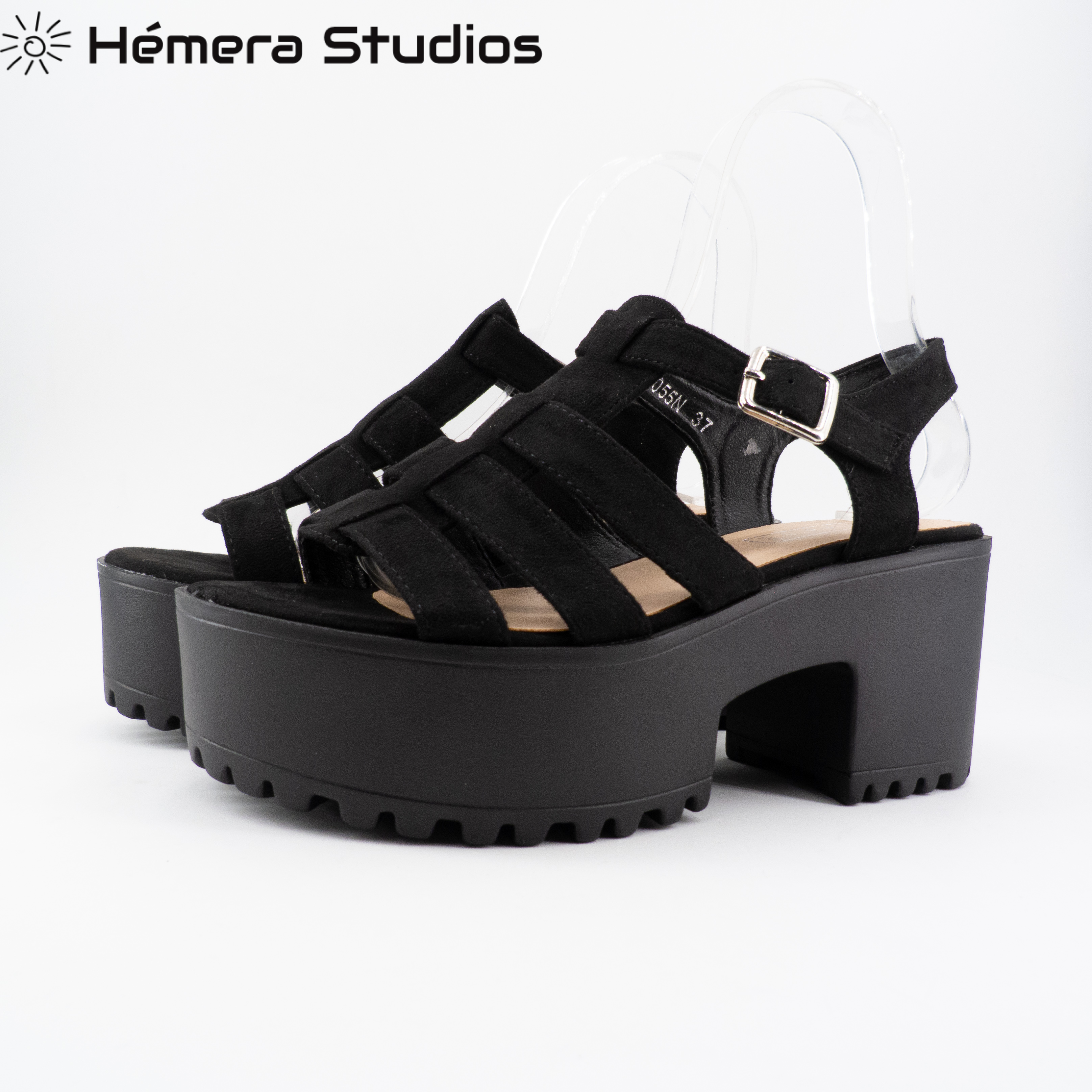 Summer Sandals For Women Black Design Rome Style Platform Sandals Comfortable High Heel Beach Slippers With Thick Sole