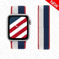 Strap for Apple Watch Band 44mm 40mm iWatch 42mm 38mm Smartwatch International Nylon Loop Sports Bracelet Apple Watch 3 4 5 SE 6