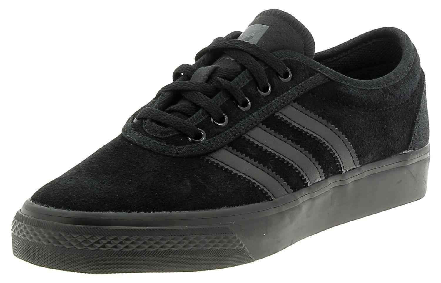 ADIDAS Adi Ease Men's Black Suede Leather Skate Shoes