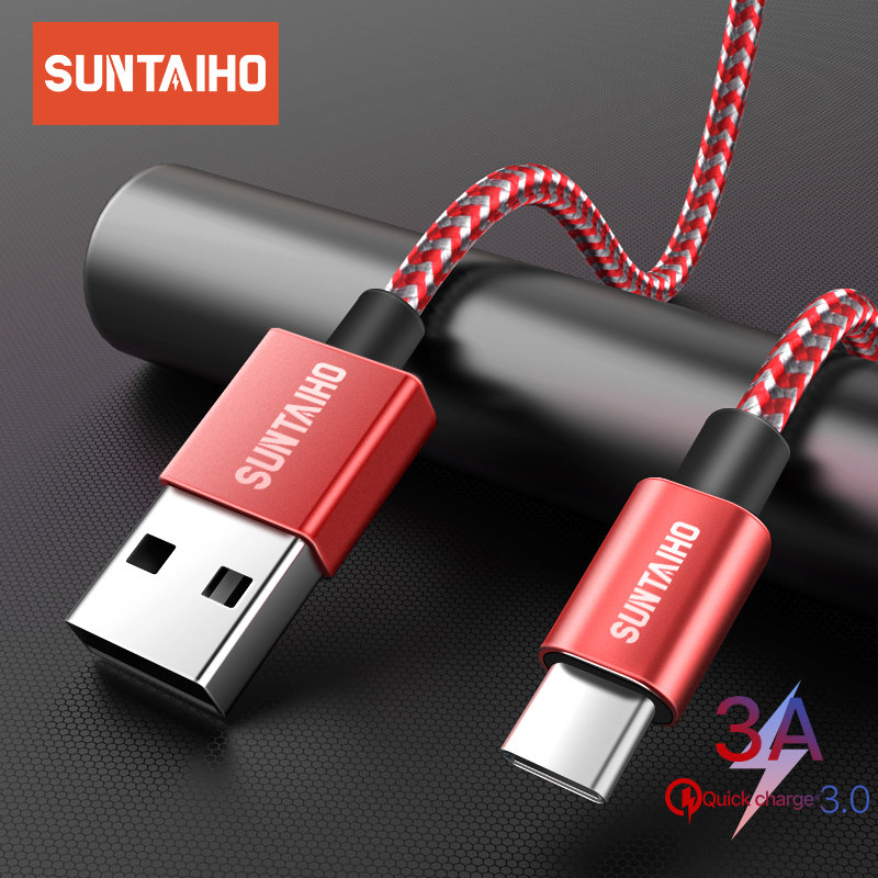 Suntaiho 3A Type C Cable For Xiaomi Redmi Note 8 Pro USB C Mobile Phone Fast Charging Type-C Cable For Samsung S10 S9 S8 Plus