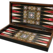 Backgammon with Checkers Outside Wooden Backgammon Board Gift for Men Chess Checker Board Game Gift for Godparents