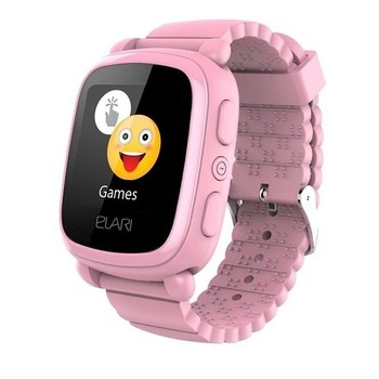 Smart watch with locator for children elari kidphone 2 pink-color touch screen-gps/lbs-communication
