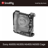 SmallRig Camera Cage for Sony A6000/A6300/A6500 with Meike MK A6300/A6500 Battery Grip Tripod Shooting Protective Cage 2268