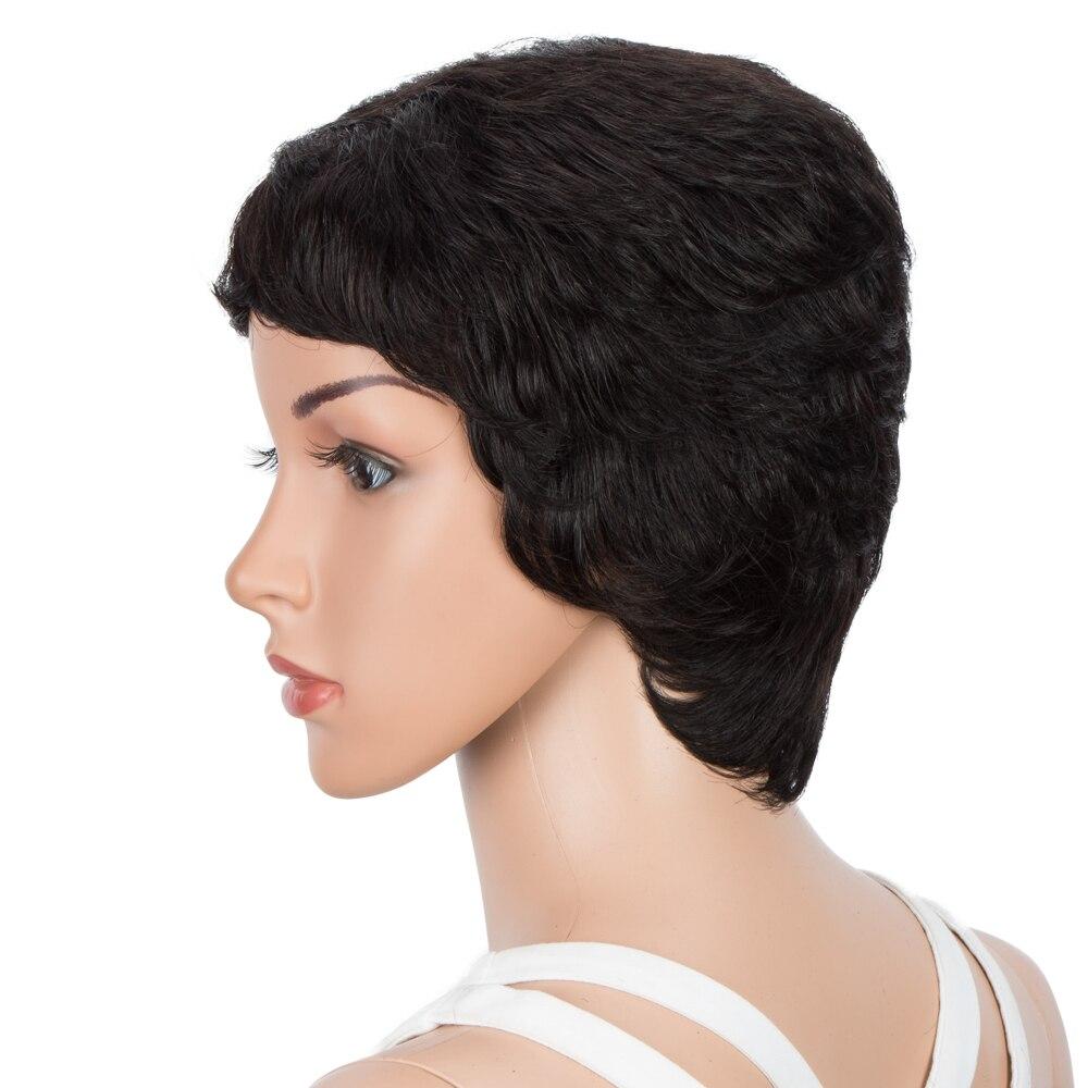 Pixie cut perucas de cabelo humano para