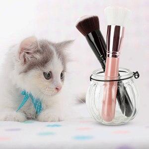 Image 3 - תכליתי 1PCS חתול טופר Paw איפור מברשות חמוד קרן מברשת קונסילר לאורך זמן סומק יופי כלי Maquiagem