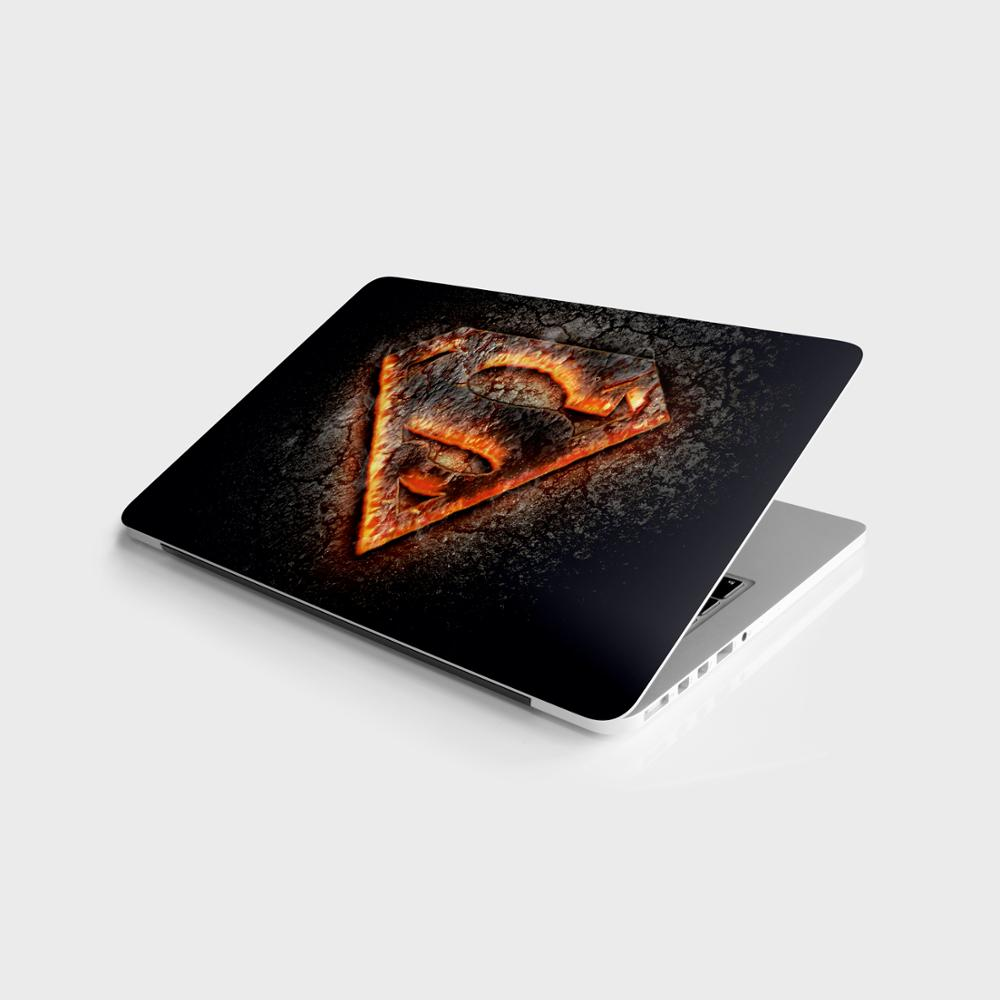 """Sticker Master Superman Flame Logo 3D Laptop Vinyl Sticker Skin Cover For 10 12 13 14 15.4 15.6 16 17 19 """" Inc Notebook decal for Macbook,asus,Acer,Hp,Lenovo,Huawei,Dell,Msi,Apple,Toshiba,Compaq"""