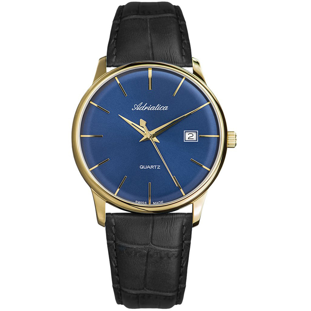 Men's Watches On A Leather Strap With Sapphire Crystal Sunlight
