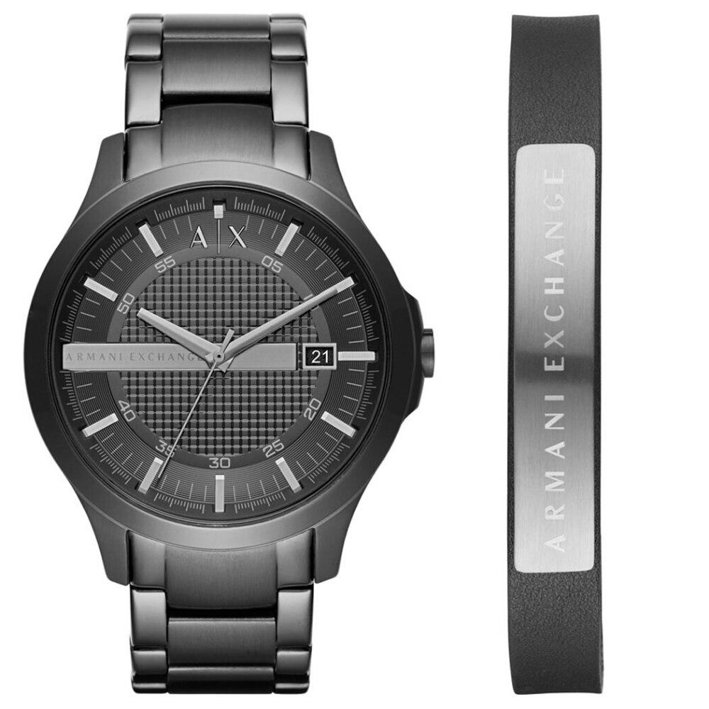 Armani Exchange Watch Men Original  AX7101 Men's Set Wristwatch And Bracelet Top Brand Luxury Set Quartz Watch 50m. Waterproof
