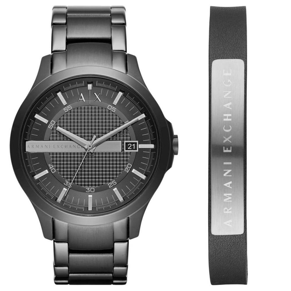 Reloj Armani Exchange AX7101 Original para hombre, conjunto de reloj de pulsera y pulsera, conjunto de lujo, reloj de cuarzo 50 m. Impermeable