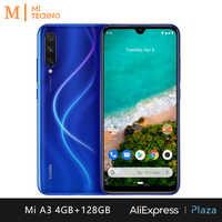 Smartphone Xiao mi mi A3 (4 go de RAM, 128 go de ROM, téléphone mobile, gratuit, neuf, pas cher, batterie 4030 mAh, Android One) [Version mondiale]