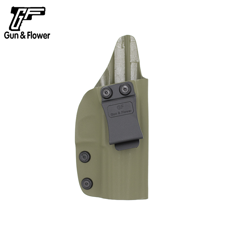 Gunflower Amy Green IWB Kydex Holster with Belt Clip for CZ 75 P07 Inside Concealed Carry Pistol Case