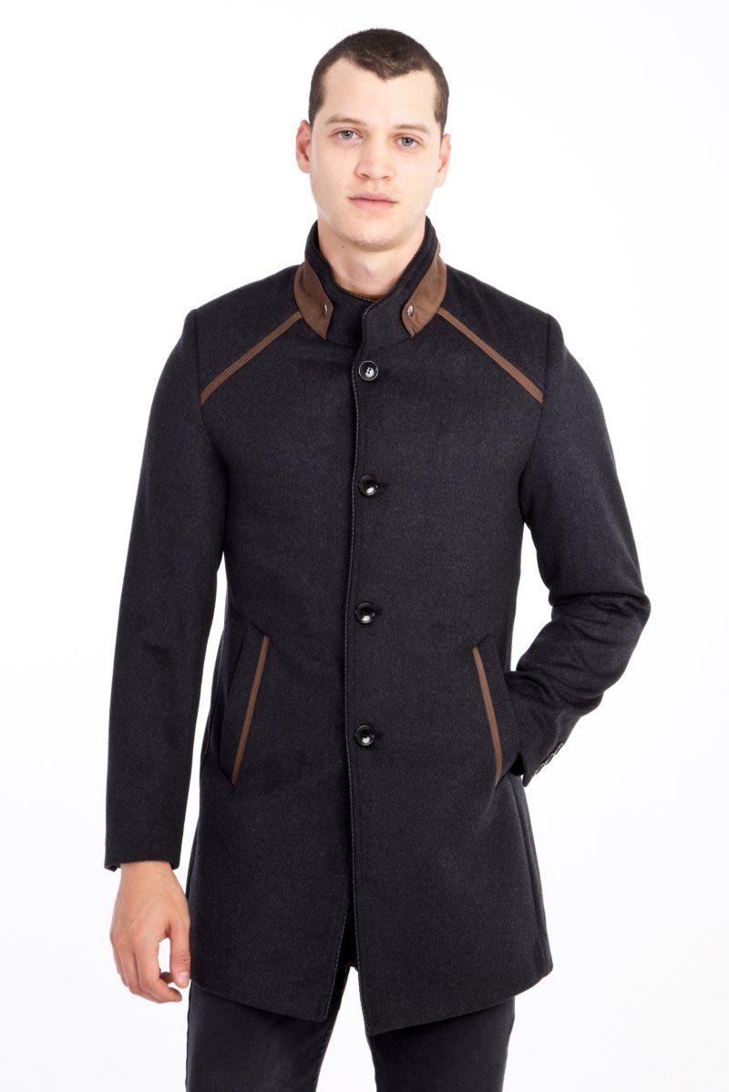 Kigili Menswear Autumn-Winter Warm Casual Overcoat High Quality Essentials Of Stand-up Collar Coats Men's Wool Blend Jacket