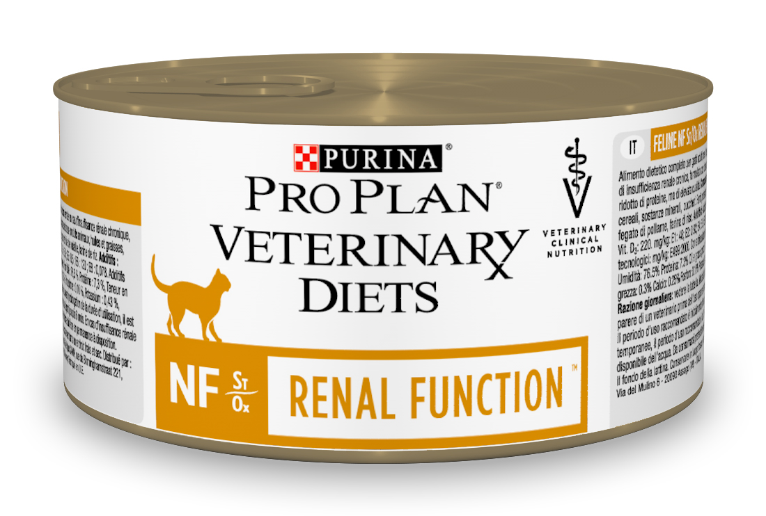 Canned food Pro Plan Veterinary diets NF cat food for kidney pathology, 24 cans of 195 g each цена
