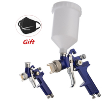 H 827 Spray Gun 1.4mm 1.7mm 2.0mm Airbrush HVLP Steel Nozzle Cars Painting Furnitures DIY Painting Kit Car Auto Repair Tool