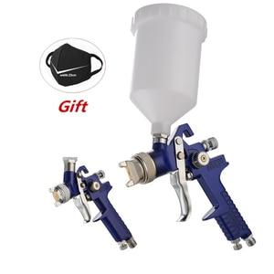 Image 1 - H 827 Spray Gun 1.4mm 1.7mm 2.0mm Airbrush HVLP Steel Nozzle Cars Painting Furnitures DIY Painting Kit Car Auto Repair Tool