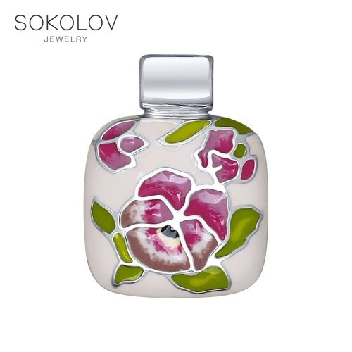 SOKOLOV Suspension Of Silver With Enamel Fashion Jewelry 925 Women's Male