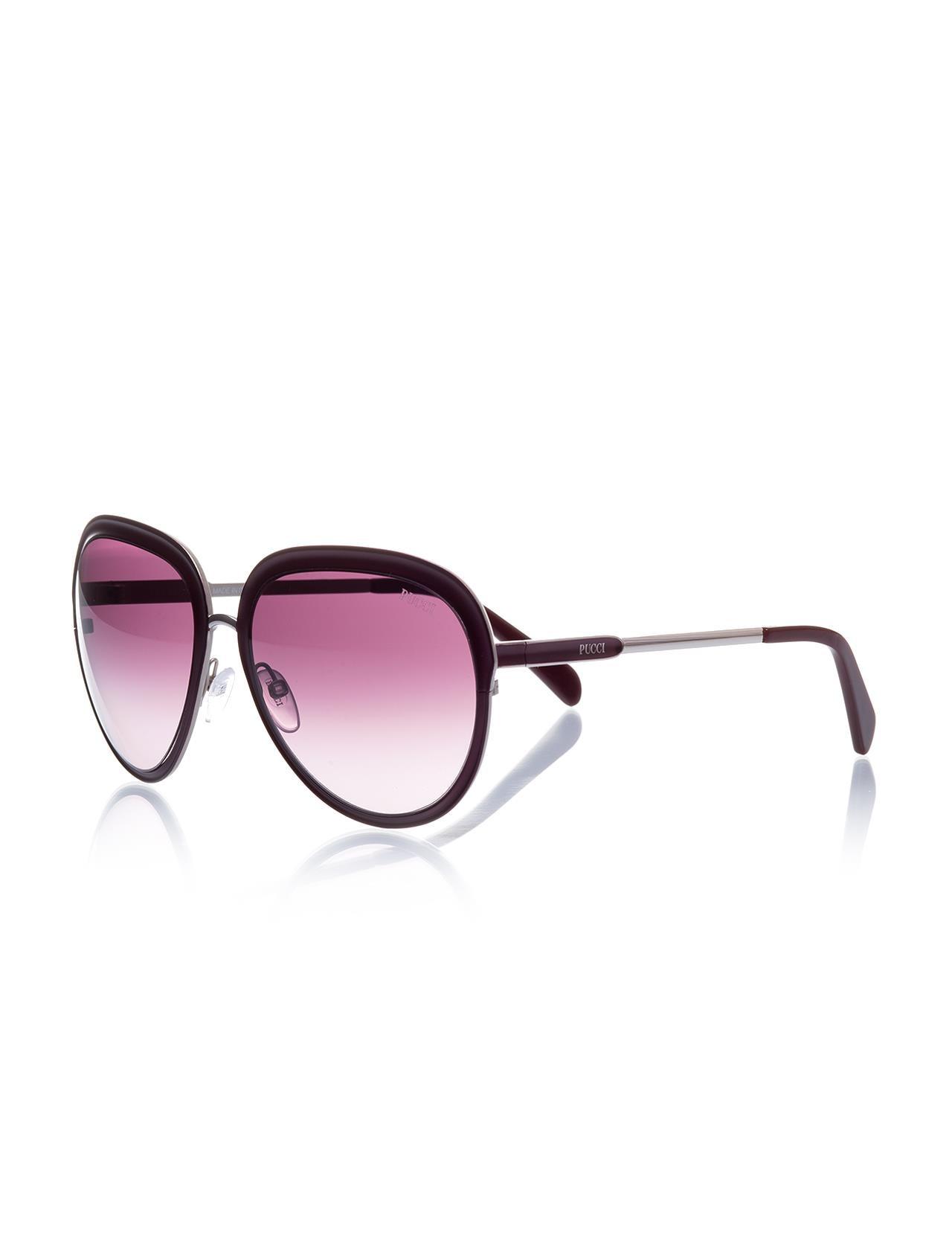 Women's sunglasses ep 0037 69t metal Burgundy organic oval aval 57-18-135 emilio pucci