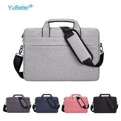 Yubeter manga saco do portátil à prova dwaterproof água para macbook ar pro 13 14 15.6 Polegada caso computador mensageiro bolsa de ombro maleta