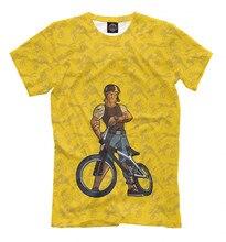 Males's T-shirt bicycle (sport) bike