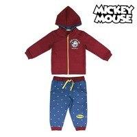 Agasalho infantil mickey mouse 74706 borgonha