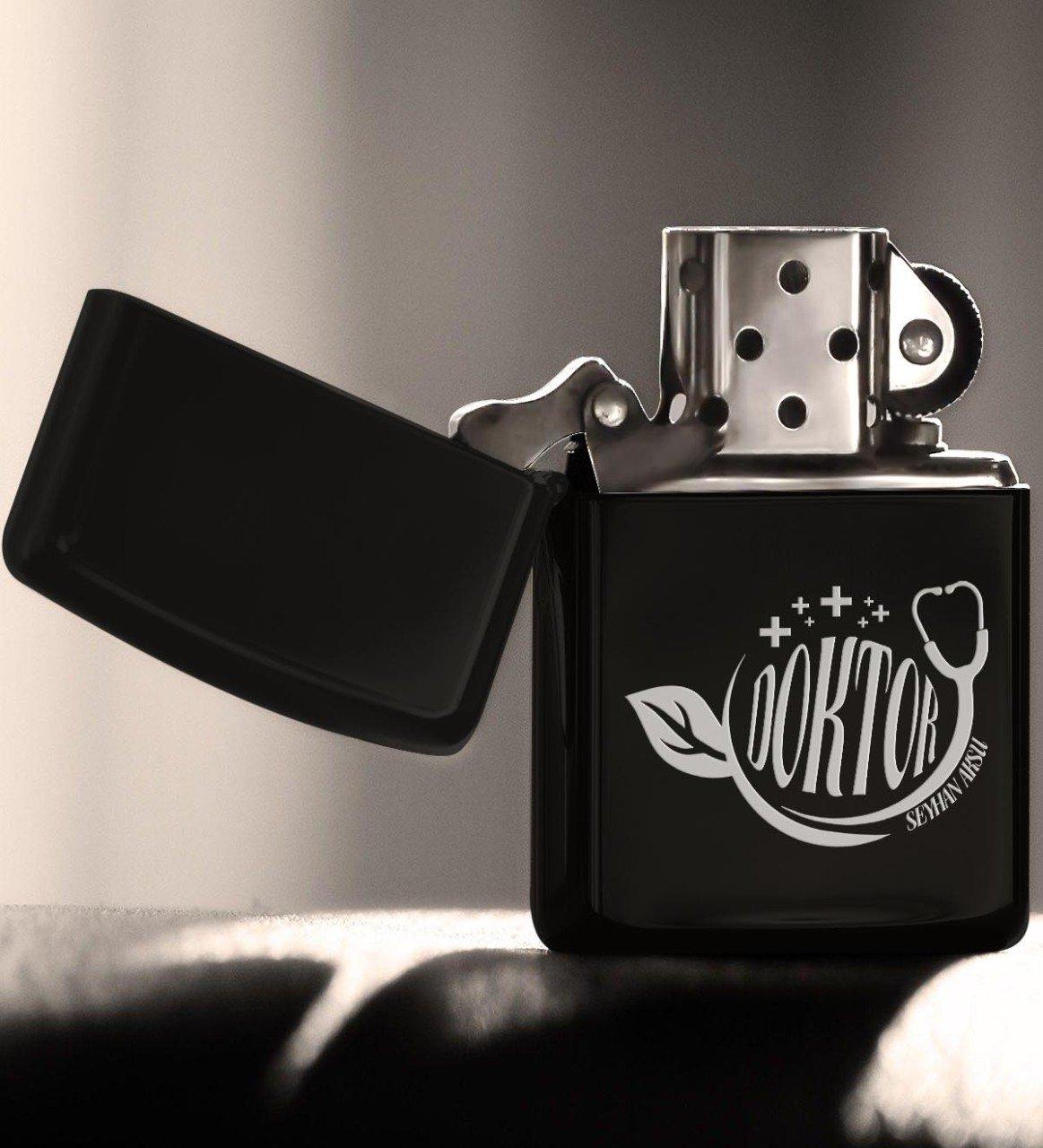 Personalized Professional Doctor Gasoline Black Metal Cigarette Lighter 10|Cigar Accessories| |  - title=