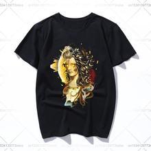 Ge новая распродажа футболка с принтом Забавные футболки повседневные
