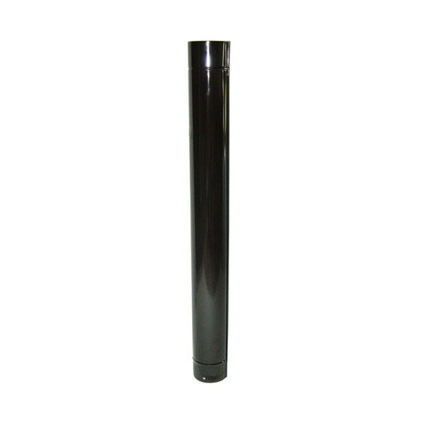 Tube Stove Color Black Vitrified 200mm.