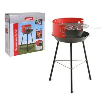Charcoal Barbecue with Stand Algon Circular Red Black (ø 41 cm)