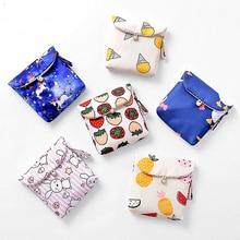 Sanitary Napkin Storage Bag Cartoon Printing Coin Purse Jewelry Organizer Case Sundries Storage Bags Sanitary Pads Packaging Bag