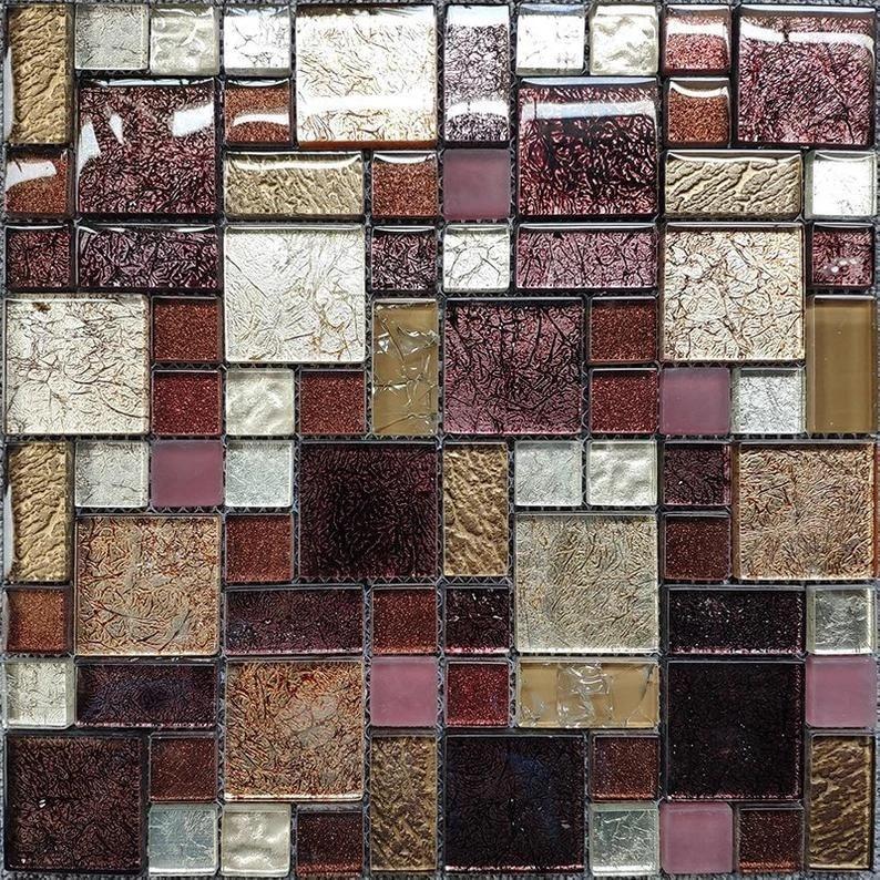purple beige caramel tan white glass kitchen backsplash jmfgt063 crystal glass wall tile bathroom mosaics