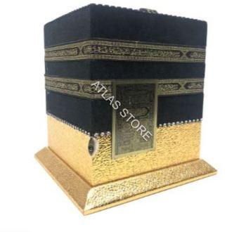 QUR #8217 AN-I KERİM pudełka modele Kaaba 20*20 Cm zestaw modeli Kabe srebrny lub złoty tanie i dobre opinie Unbranded