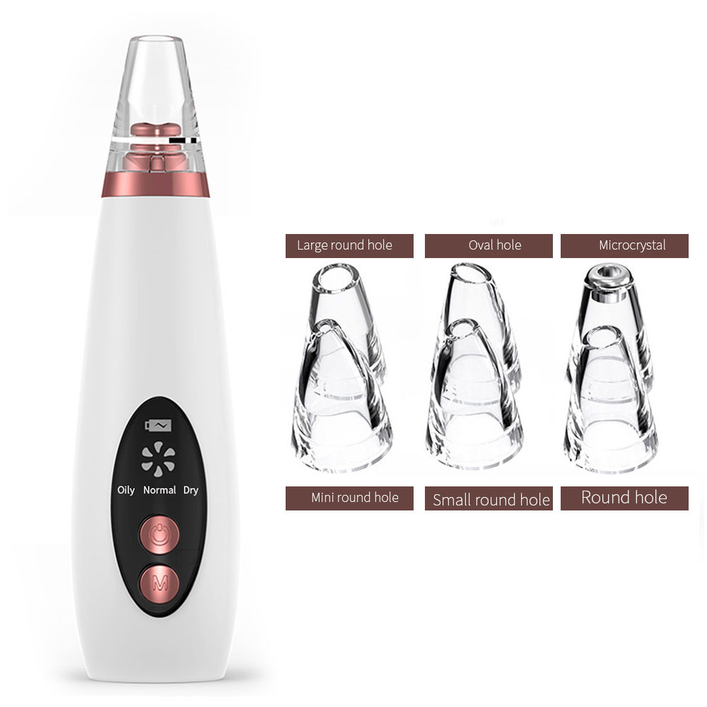 Facial Pore Blackhead Removal Equipment Vacuum Black Points Suction Cleaner Acne Pimple Remove Appliances Aspirateur Point Noir