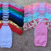 Детские пижамы ночные рубашки с рукавами-крылышками, Детские спальные мешки с рукавами реглан и рюшами, Детские спальные мешки, хлопковая детская одежда
