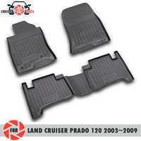 Tapis de sol pour Toyota Land Cruiser Prado 120 2003 ~ 2009 tapis antidérapant polyuréthane protection contre la saleté intérieur de voiture