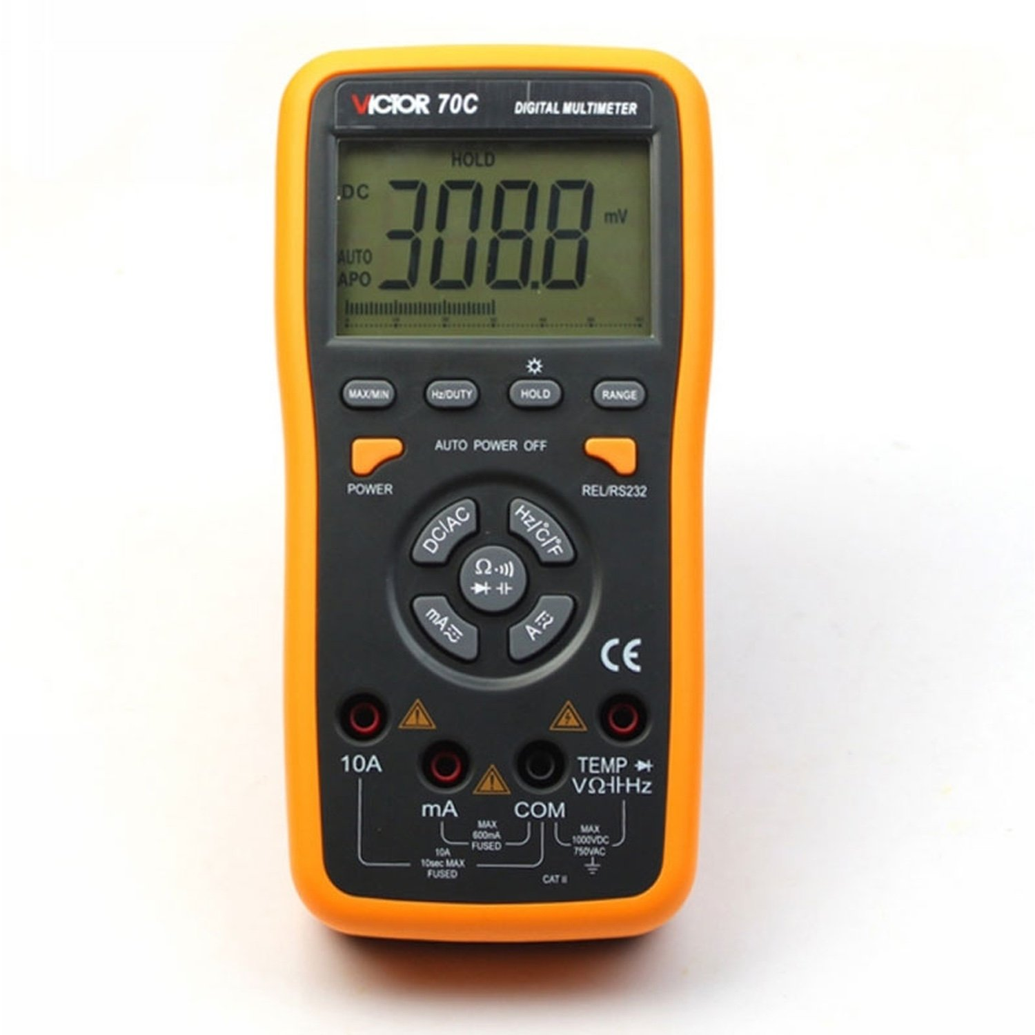 VICTOR 70C 3 5/6 Key Touch Digital Multimeter Autoranging LCD with usb pc connection цена в Москве и Питере