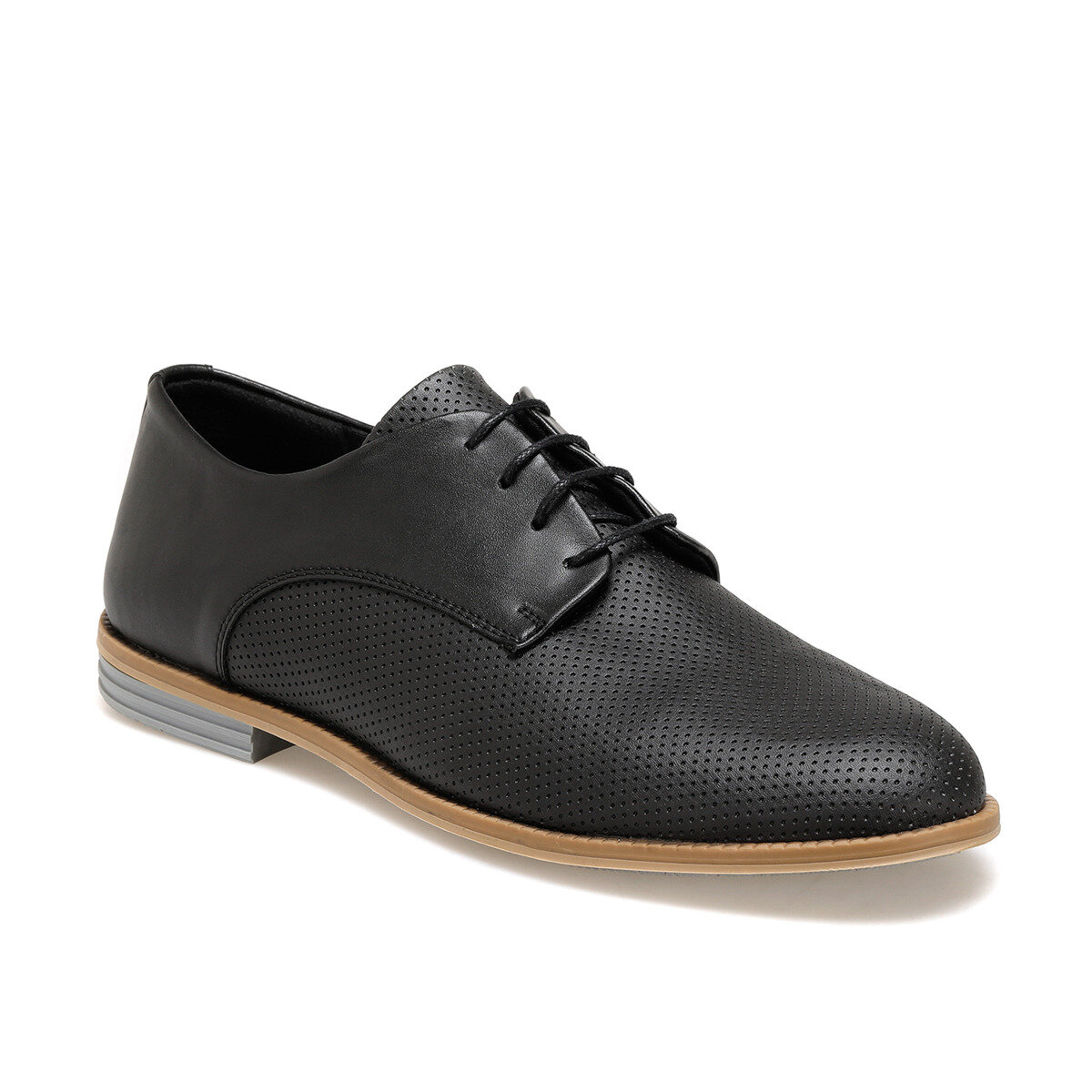 FLO 851-2 Black Men Dress Shoes-Styles
