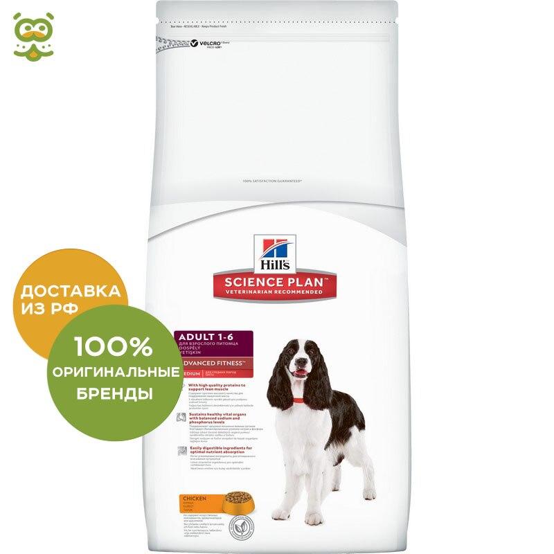 Hill's Science Plan Advanced Fitness корм для собак средних пород от 1 до 7 лет, Курица, 2,5 кг.