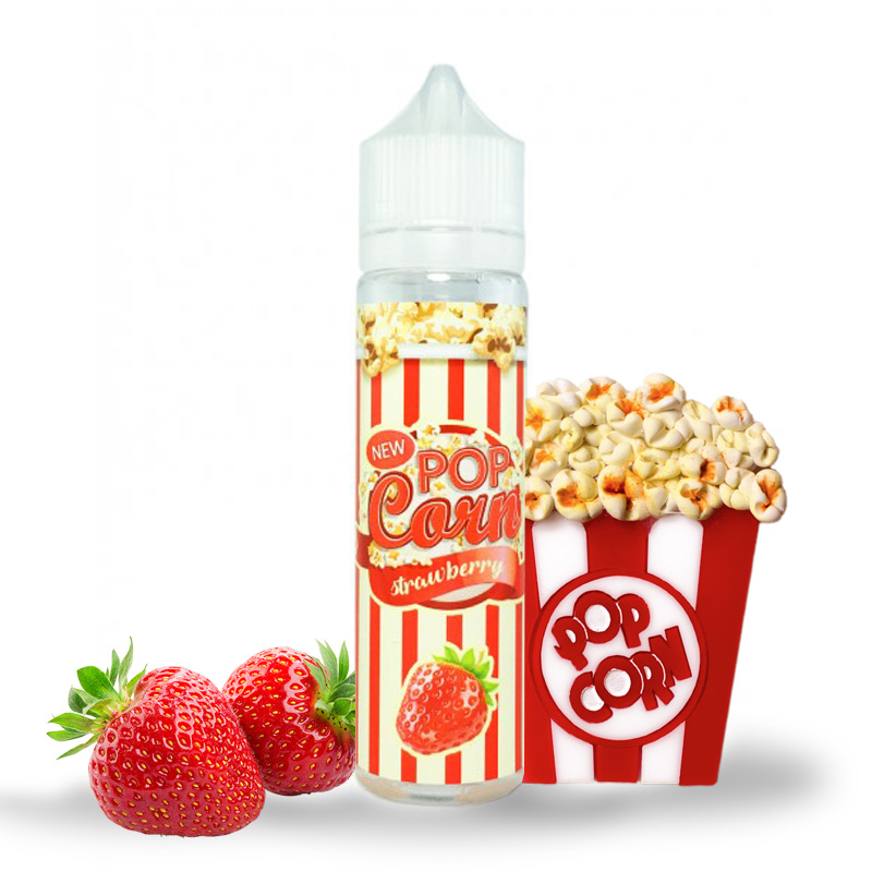 Pop Corn And Liquid STRAWBERRY 50 Ml
