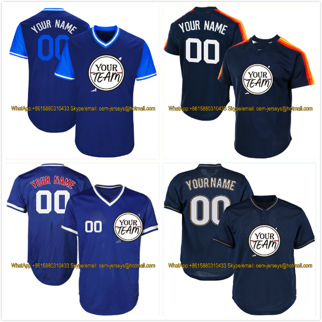 Neue Hohe Qualität Custom Baseball Jerseys Jede Farbe Größe Design Team Logo Name Anzahl Softball Uniform Pullover Training T-Shirts