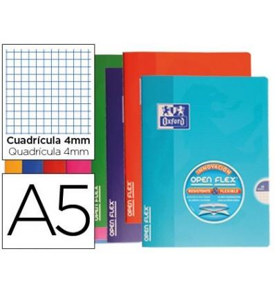 SCHOOL BOOK OXFORD CAP FLEXIBLE OPTIK PAPER OPENFLEX 48 SHEETS 90 GR DIN A5 TABLE 4 MM COLORS ASSORTED 10 Units