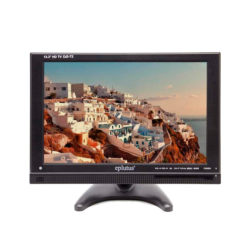 Coche TV Eplutus EP-133T DVB-T/DVB-T2 TFT LED HD TV soporte tarjeta TF USB