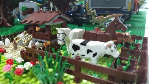 Farm Animals Trees Plants Building Blocks for Kids MOC Compatible Classic Bricks Toys for Children Juguetes Bloques Base Plate photo review