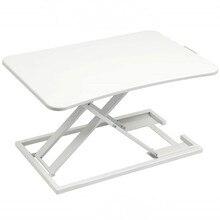 Standing Desk Converter Ergonomic Height Adjustable Stand Up Desk Riser Sit to Stand Desk Home Office Computer Workstation White