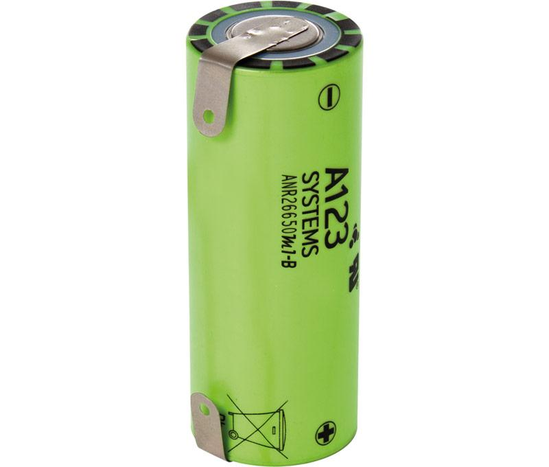 <font><b>Battery</b></font> de ferrous A123-ANR26650M1-B ANR 26650 <font><b>3</b></font>,<font><b>7</b></font> <font><b>V</b></font> lithium 2500ma With Terminal X Bat539 image