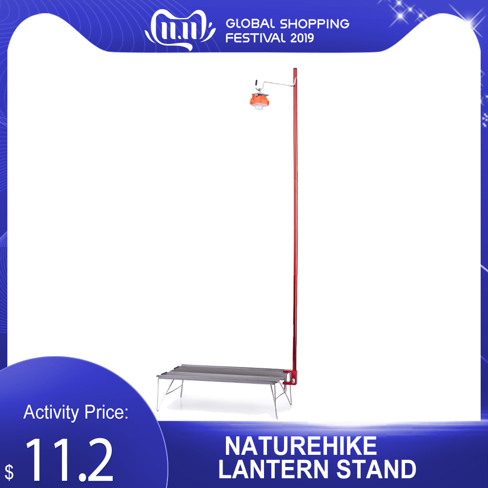 Naturehike NH Table Lantern Stand 0utdoor Camping Picknick Draagbare Licht Pole Travel Aluminium Vouwen Kamp Tent NH 테이블 랜턴 스탠드