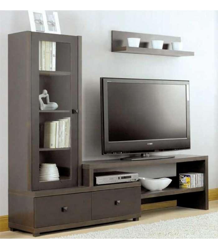 Cabinet composition lounge xira 2 drawers Wenge melamine|  - title=